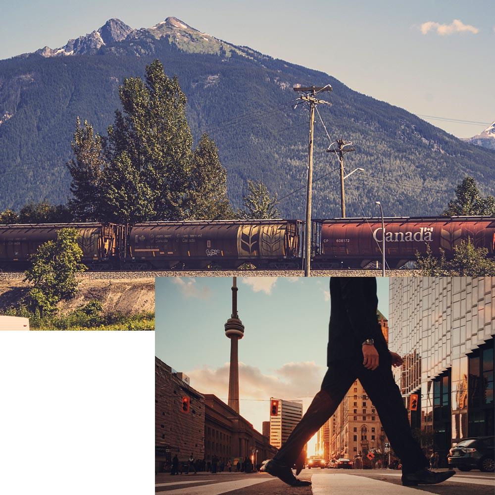 Photos d'un train du CN et de la tour du CN